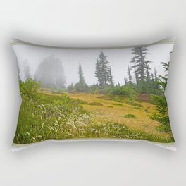 REFLECTIONS ON A PLACID MOUNTAIN LAKE Rectangular Pillow