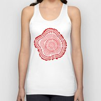 tree rings Tank Tops featuring Red Tree Rings by Cat Coquillette