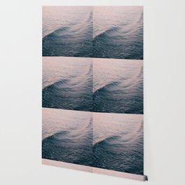 Pink Sunset Waves Wallpaper