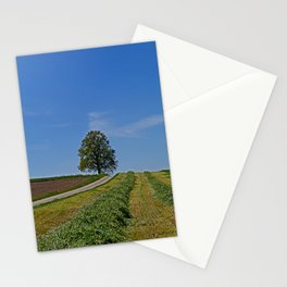 Relaxing in a field Stationery Cards