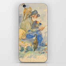 """Théophile Steinlen  """"Autoportrait aux chats"""" iPhone Skin"""