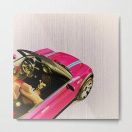 Pink Playmobil Metal Print