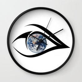 The planet on which we live can see everything Wall Clock