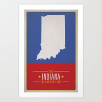 indiana Art Prints featuring INDIANA by Matthew Justin Rupp