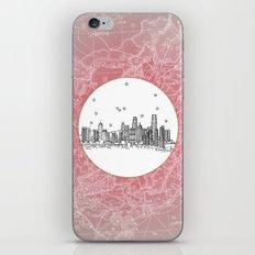 Hong Kong, China City Skyline Illustration Drawing iPhone & iPod Skin