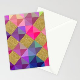 Colorfur squares pattern Stationery Cards