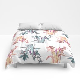 Garden Spring Leaves - Soft Rose Comforters