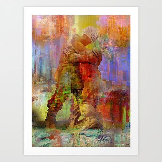 When your dad returns home Art Print