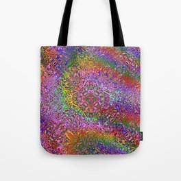Color Displacement Tote Bag