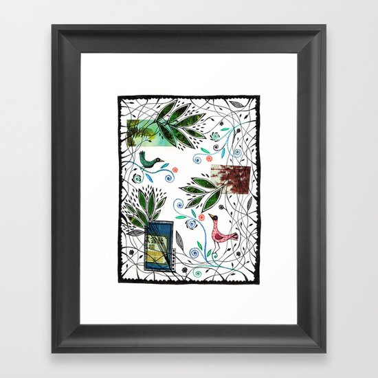 Through the jungle web Framed Art Print