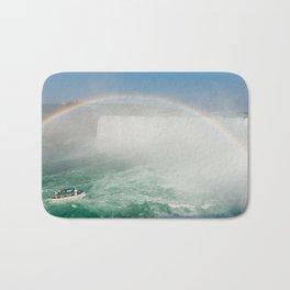 Rainbow on Boat in Niagara Falls Bath Mat