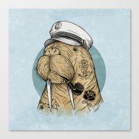 walrus Canvas Prints featuring WALRUS by Thiago Bianchini