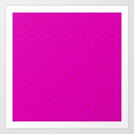 fluor pink hexagonal patern Art Print