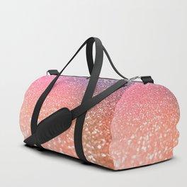 Rose Gold Peach Glitter Blush Duffle Bag