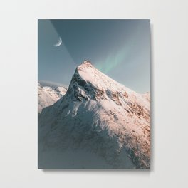 Norway Snowy Mountains Metal Print
