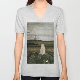 There's A Ghost in the Cabbage Patch Again... Unisex V-Neck
