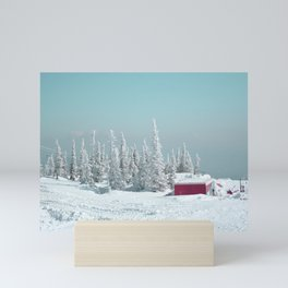 Winter day Mini Art Print