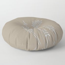 Forest Bathing - Taupe  Floor Pillow