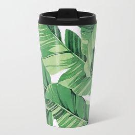 Tropical banana leaves V Travel Mug