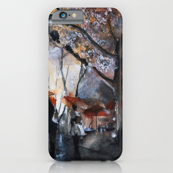 Watercolor painting - Autumn rain - iPhone & iPod Case