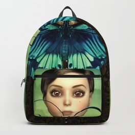 Butterfly Portrait in the meadow Backpack