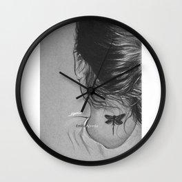 Lauren Jauregui Dragonfly Tattoo Sketch Wall Clock