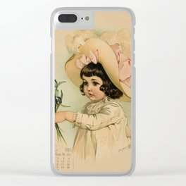 French Girl Maud Humphrey Clear iPhone Case