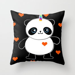 It's a Pandacorn Valentine's Day Throw Pillow