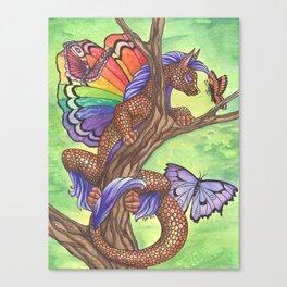 Curious Flutterby Canvas Print