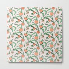 Peach and leaves Metal Print