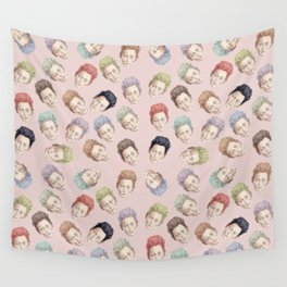Tilda Heads and Hair Colors Wall Tapestry