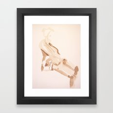 Slouch Framed Art Print