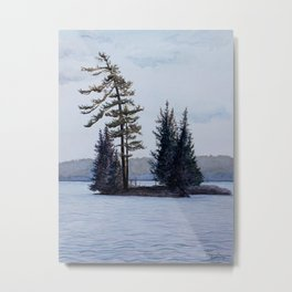 Twin Island, Charleston Lake Metal Print