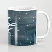 starry night Mugs featuring STARRY NIGHT by MEERA LEE PATEL