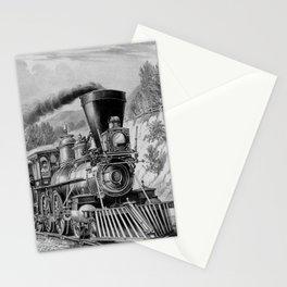 The Express Train - Vintage Railroad Stationery Cards