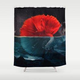 Red Siamese Fighting by GEN Z Shower Curtain