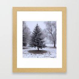 Frozen Fog Framed Art Print