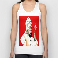 chad wys Tank Tops featuring pope chad by Chad M. White