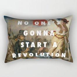 settle for a revolution Rectangular Pillow