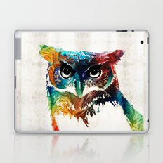 Colorful Owl Art - Wise Guy - By Sharon Cummings Laptop & iPad Skin