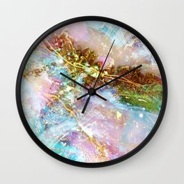 Opal and Gold Wall Clock