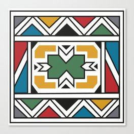 African Tribal Pattern No. 166 Canvas Print