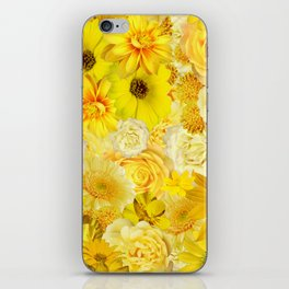 Yellow Rose Bouquet with Gerbera Daisy Flowers iPhone Skin