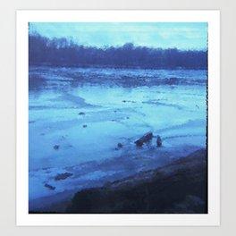 River Wash Art Print