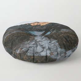 Mountain Ponds - Landscape and Nature Photography Floor Pillow
