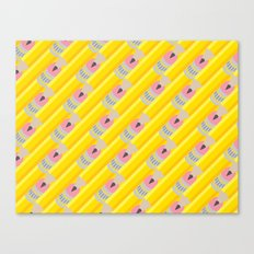 Pencil Pattern Canvas Print
