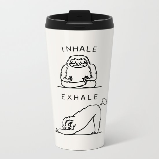 Inhale Exhale Sloth Metal Travel Mug