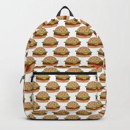 Hamburger - BBQ Doodle Pattern Backpack