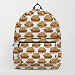Hamburger - BBQ Doodle Pattern Backpack