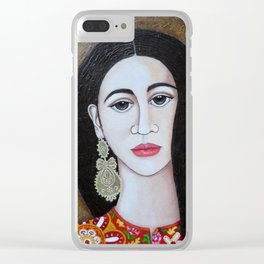 The Portuguese Earring 2 Clear iPhone Case